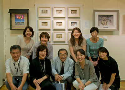 原画作家 トリノまさる先生、開高悦子と3Dピクチャーカリフォルニア会会員