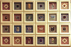 世界の切手を3Dピクチャーに仕立てました