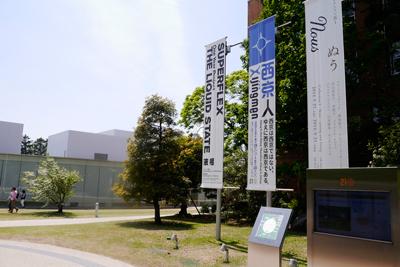 美術館の裏側出口