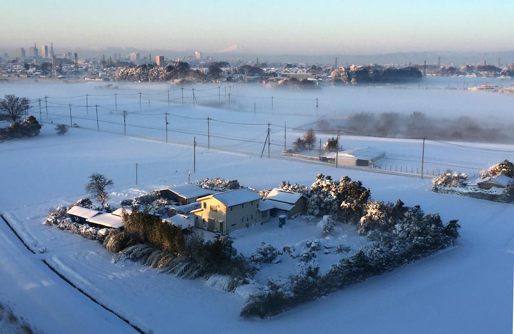 1月22日〜23日に降った雪 25cm積もりました