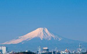 2011.1.5 ベランダから見た富士山