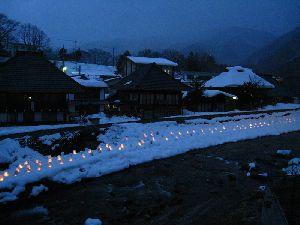 栃木県湯西川温泉のミニかまくら