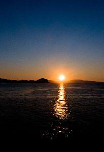 2013.6.27 P.M7:21 利尻島で見た日没