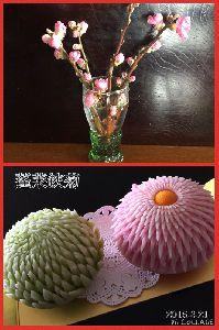 蓬莱鋏菊(上生菓子)