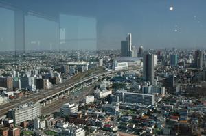 新宿副都心もよく見えます