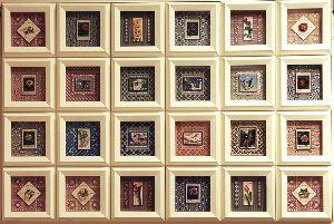 世界の切手を3Dピクチャーに仕立てました。